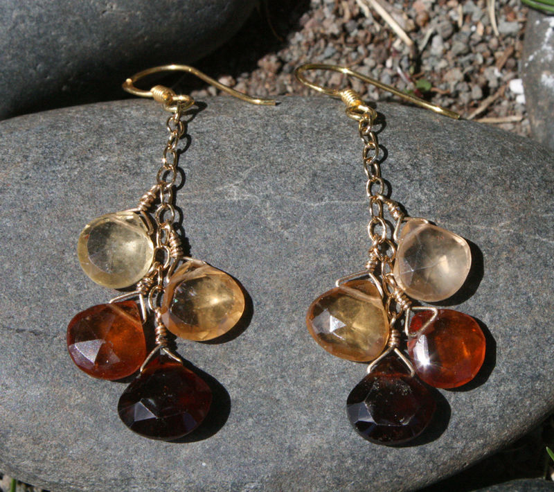 Hessonite brileotte earrings 5 - feb 2009