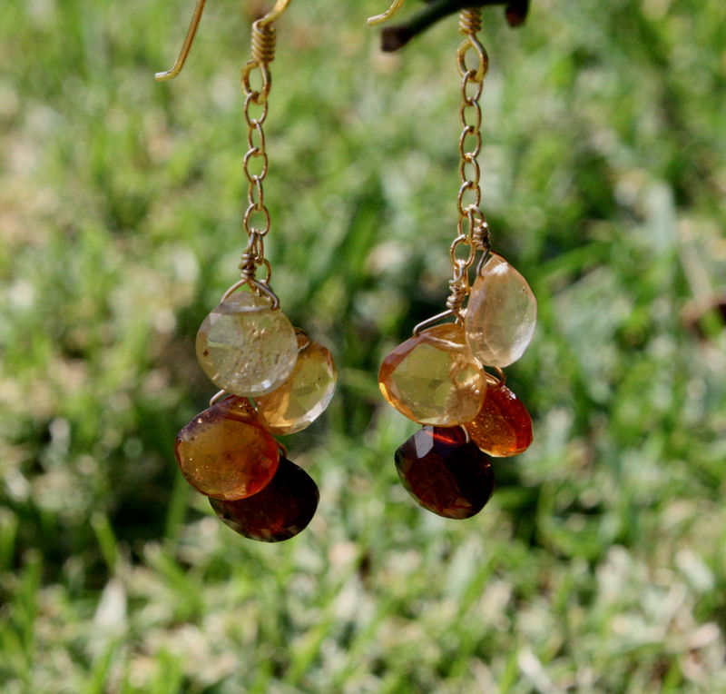 Hessonite brileotte earrings 1 - feb 2009