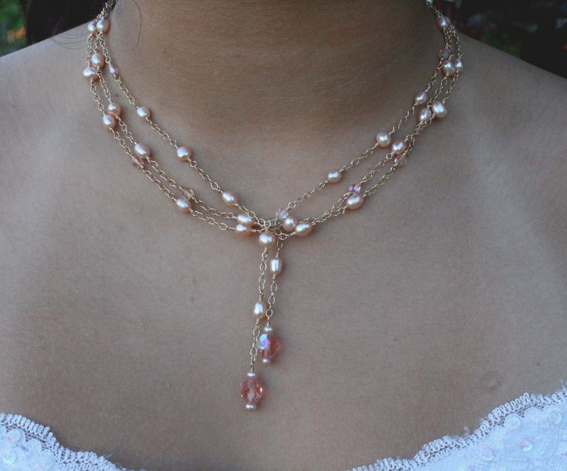 Pale Peach Lariat