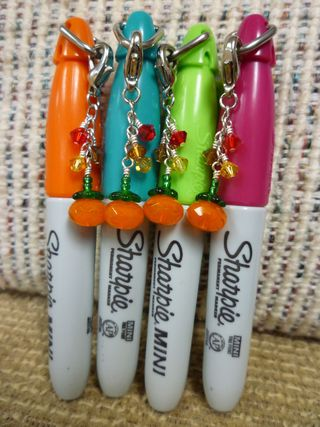 Fall charms on mini sharpies - KE1