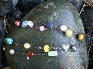 Multistone_necklace_gunmetal